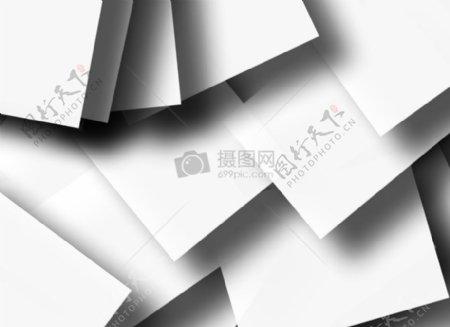层叠的白色长方形图案