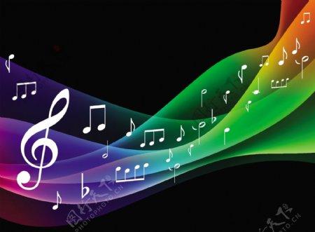 交响音乐背景矢量