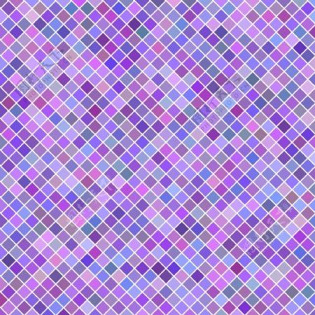 颜色抽象对角线正方形图案背景矢量插图从紫色方块
