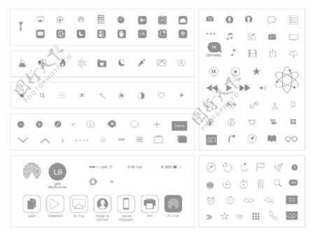 iOS7内置基本图标sketch素材
