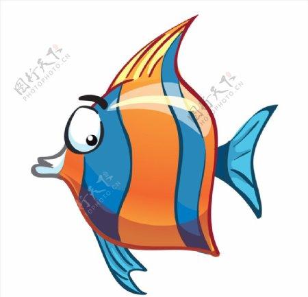 卡通小丑鱼矢量图