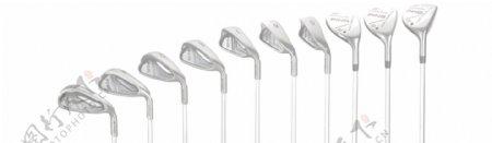 各种型号高尔夫球杆免抠psd透明素材