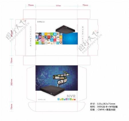 数码产品包装飞机盒