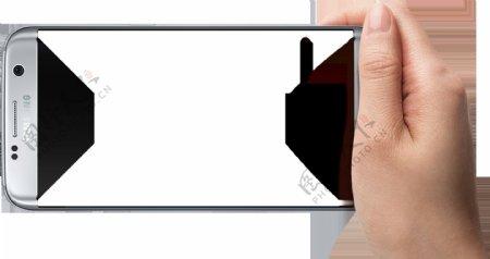 手拿手机拍照png元素素材