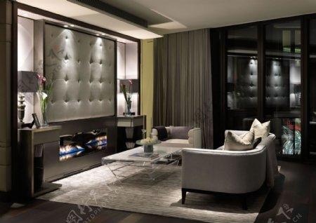 现代内涵客厅白色沙发室内装修效果图