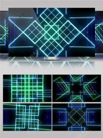 蓝色vj线条高清视频素材