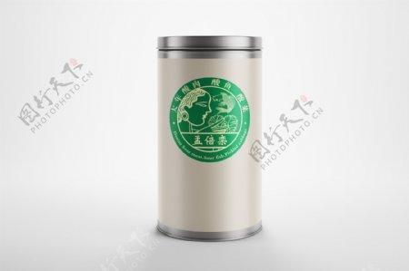 标志茶叶罐子样机