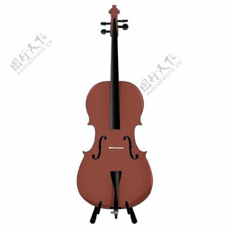卡通创意微笑的大提琴设计可商用元素