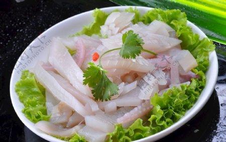 绿色鲜鱿鱼