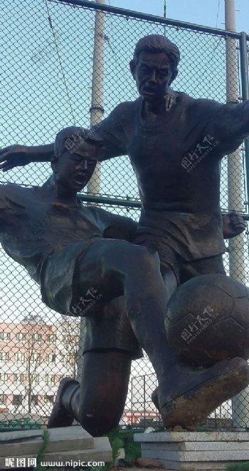 向阳运动休闲中心足球场雕塑