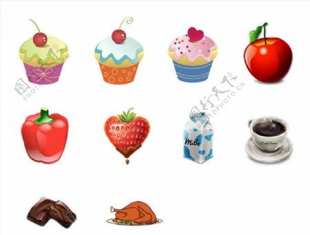 美食ICO标志图标素材