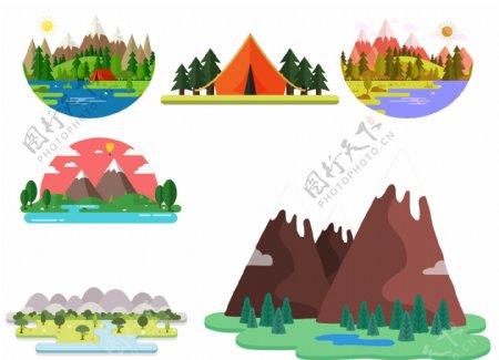 卡通的自然环境设计素材