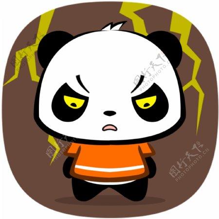 熊猫生气表情包动图设计