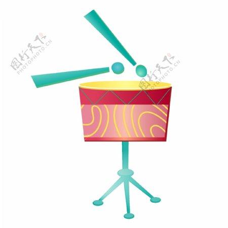 喜庆春节手绘卡通锣鼓