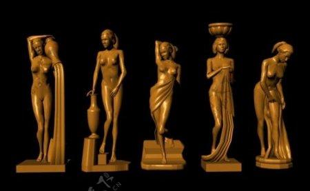 艺术作品模型欧洲风格的雕像玛雅模型