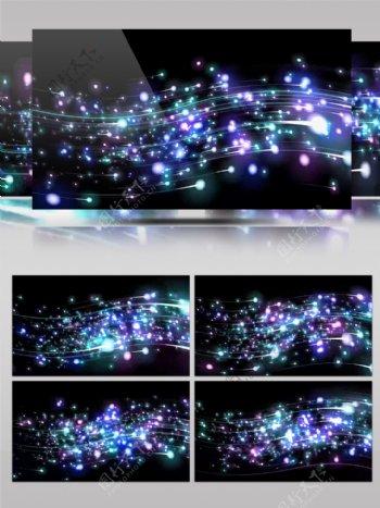 4K粒子光线音谱流线动感DJ背景VJ视频