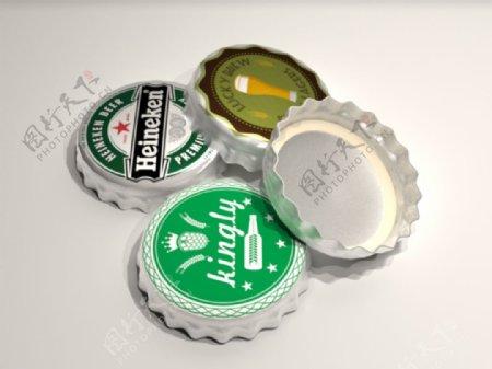 酒瓶盖3D设计模板