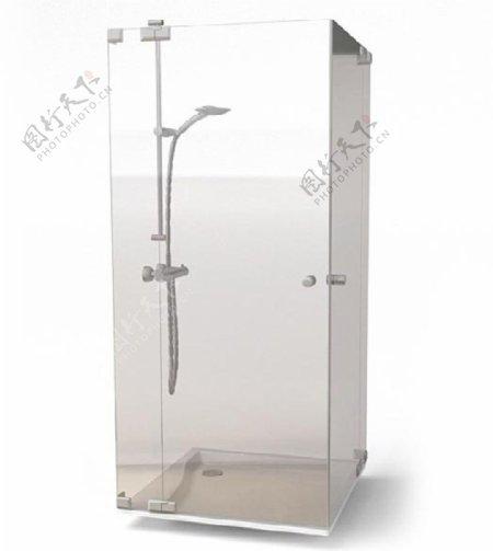 浴室淋浴房3d模型素材