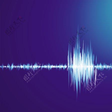 音乐声波光线光谱矢量背景