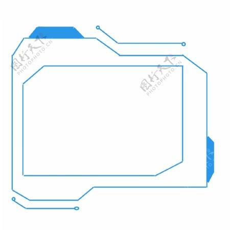 科技感线条纹理边框可商用装饰素材