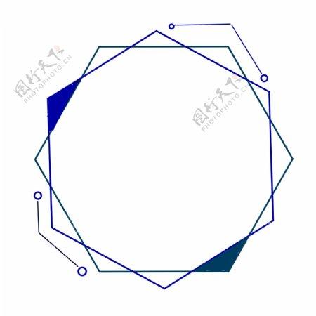 蓝色立体纹理边框可商用简约