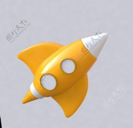 3D火箭C4D火箭C4D模