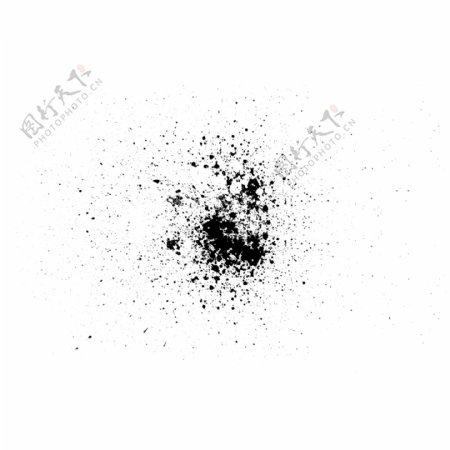 黑色斑点水墨抽象画