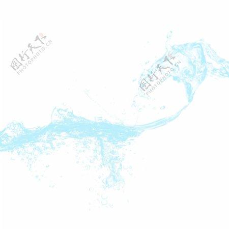 蓝色水浪水滴水波纹元素