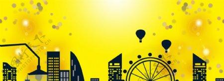黄色背景banner背景图