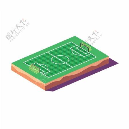 卡通2.5D绿荫的球场