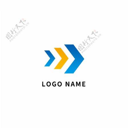 蓝色箭头商务企业logo