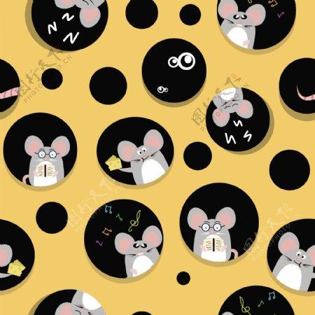 奶酪老鼠卡通设计
