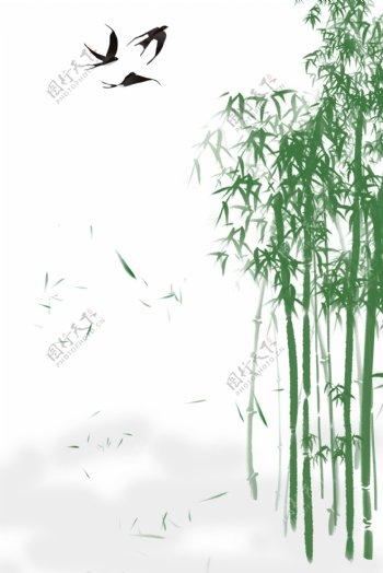 清新竹子背景图H5背景