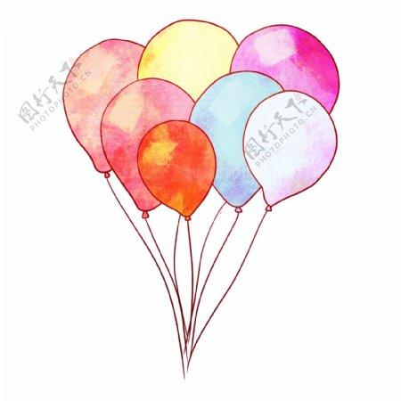 唯美卡通气球插图