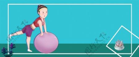 运动健身美体海报电商网页背景