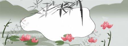 中国古代水墨画banner背景图