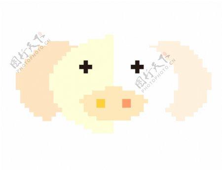 白色毛茸茸小猪头像