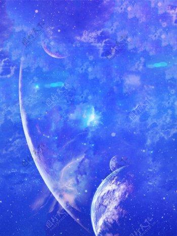 科技感蓝色背景素材