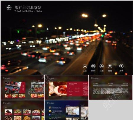 北京旅行日记PPT模板下载