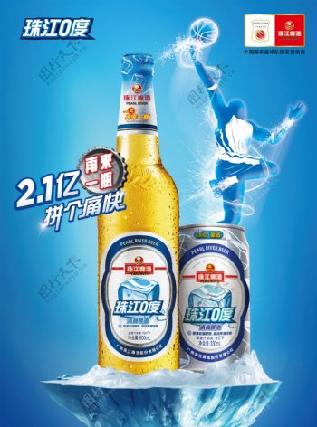 啤酒PSD海报