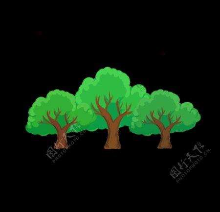 卡通植物树