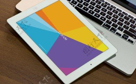 电脑iPad的样机场景贴图