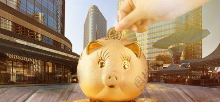 金猪金币储物罐