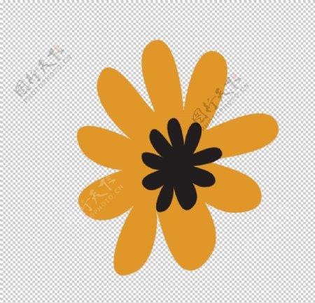 手绘卡通花朵