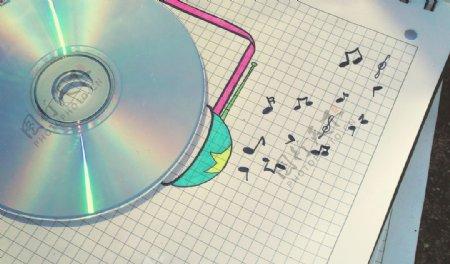 音乐底纹音符背景音乐素材