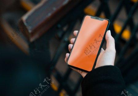 手持手机样机