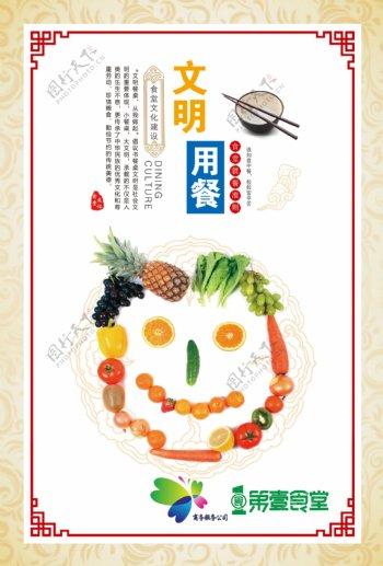 饮食文化食堂展板海报