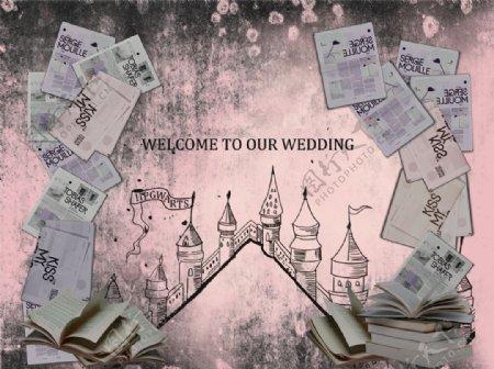 欧式做旧风格婚礼平面设计