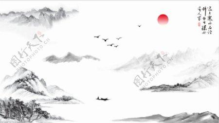 山水画水墨画书画中国画