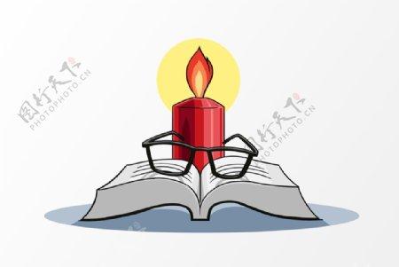燃烧中的蜡烛教师节